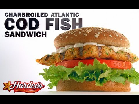 Day o fish no 7 hardee s charbroiled atlantic cod fish Hardee s fish sandwich